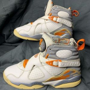 Jordan retro 8 orange blaze size 7.5 Women's retro